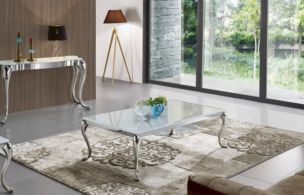 Table basse  FISTA verre blanchis