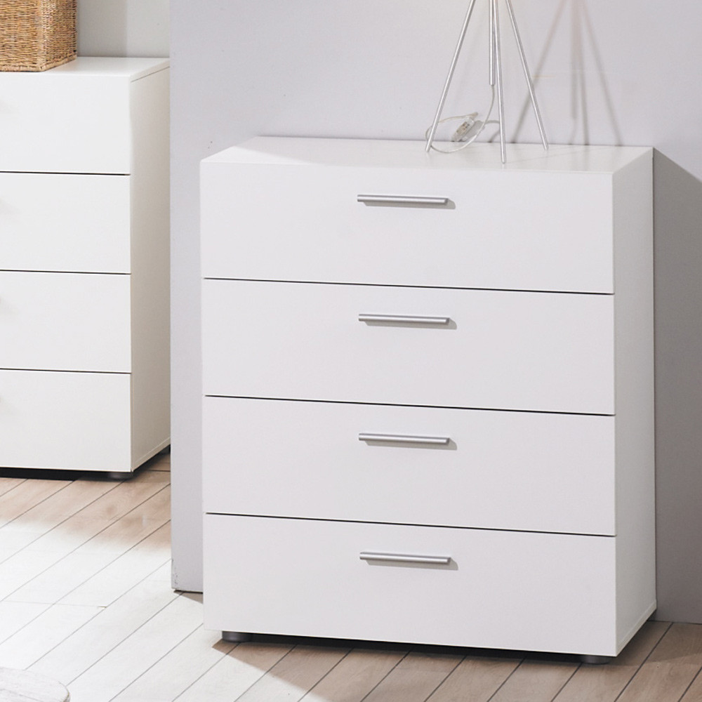 Commode 4 tiroirs BRIGHT blanc