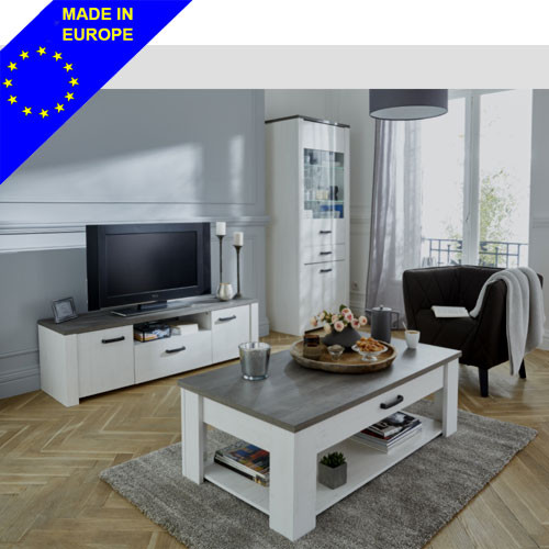 Lot table basse + meuble T.V DUO Marquise