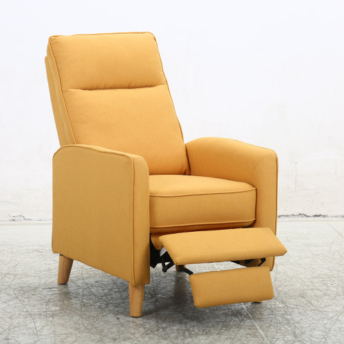 Fauteuil 1 place inclinable PUSH BACK BONITA jaune