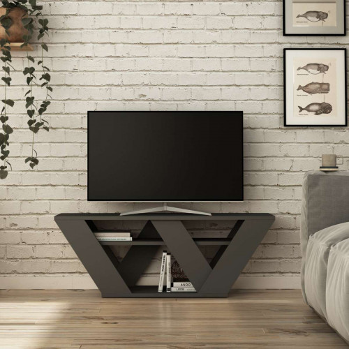 Meuble TV Pipralla, Anthracite 110 cm de la série Decoline