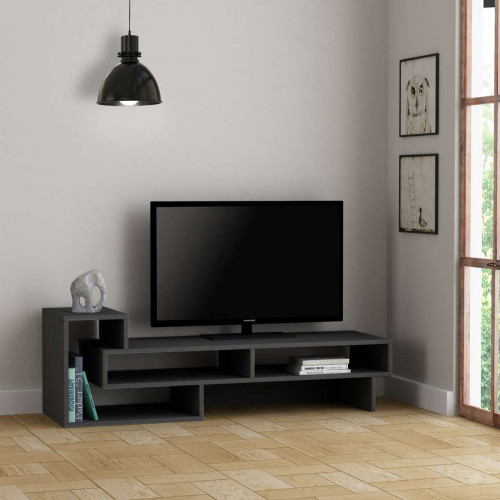 Meuble TV Tetra, Anthracite 136 cm de la série Decoline