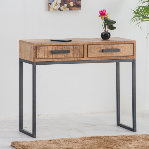 Commode console CHICAGO bois plein
