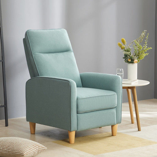 Fauteuil 1 place inclinable PUSH BACK BONITA bleu clair